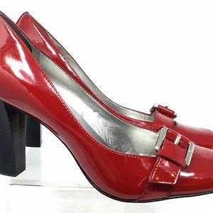 Anne Klein Women's Heel Pumps Size 8m Glossy Red